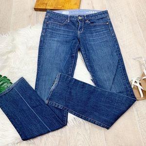 GAP Real Straight Dark Wash Denim Jeans D1367